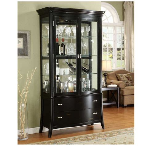 ikea curio cabinet traditional living room design with black finish curio