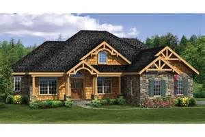 craftsman house plans with walkout basement craftsman ranch with finished walkout basement hwbdo76439