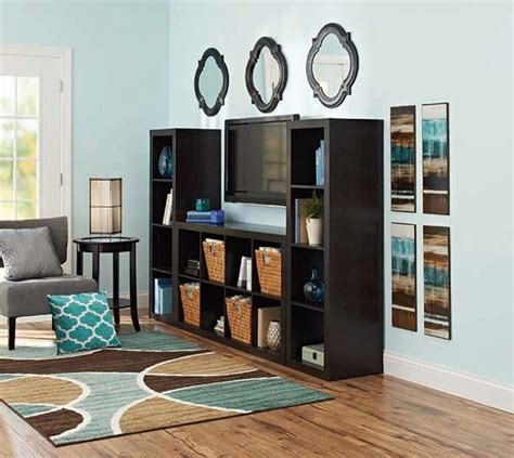better homes and gardens 16 cube wall unit organizer
