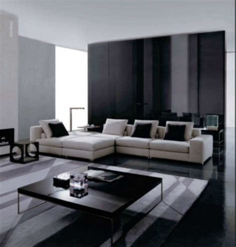 black and white living room design theme in modern contemporary black and white modern living