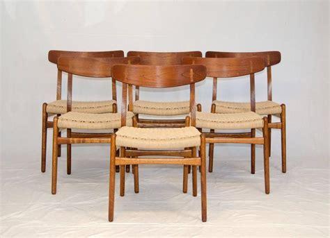 hans wegner dining chair set of six hans wegner dining chairs ch23 at 1stdibs