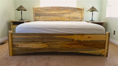 pine beds beetlekill pine quot solid arch quot king bed boulder furniture arts