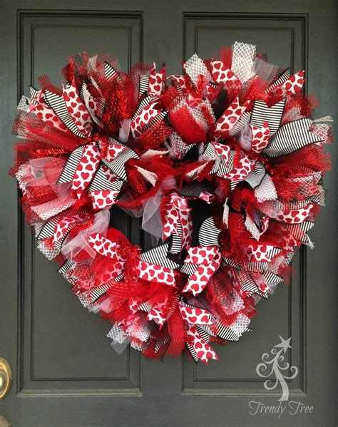 valentines mesh wreath basic wreath 2016 trendy tree