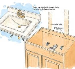 installing bathroom vanity top plumbing contractor service installation scituate