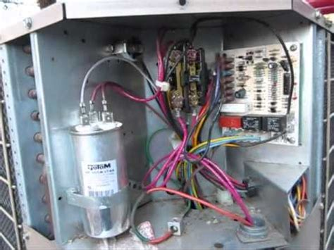 bad dual run capacitor   coleman evcon heat pump youtube