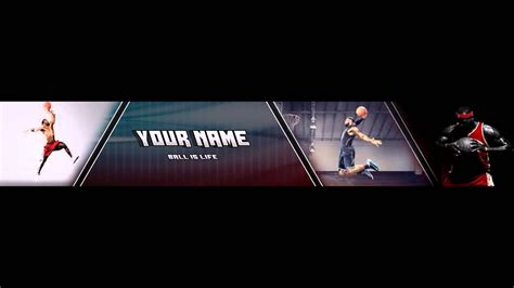 templates for sports banners free basketball banner template download youtube