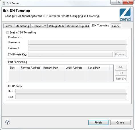configure xp zend studio setting up ssh tunneling zend studio 11