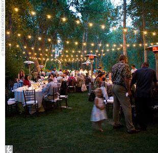 Outdoor Wedding Reception Lighting Hanging Up String Lights Weddingbee