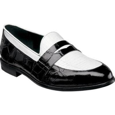 mens black and white loafers serafino 24725 blackwhite leather