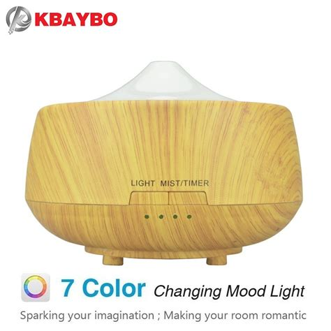 H10 Wooden Essential Aroma Humidifier 7 Color Led Light 400ml 250ml Aroma Aromatherapy Humidifier 7 Color Led Wood Grain Essential Diffuser Ultrasonic Air