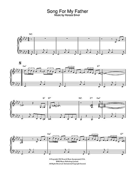 tutorial piano father and son song for my father sheet music by horace silver piano