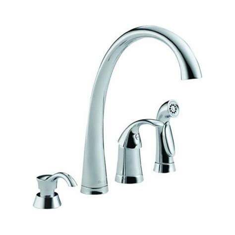 delta pilar kitchen faucet delta pilar single handle with spray and soap dispenser
