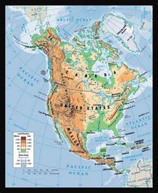 physical map of america images