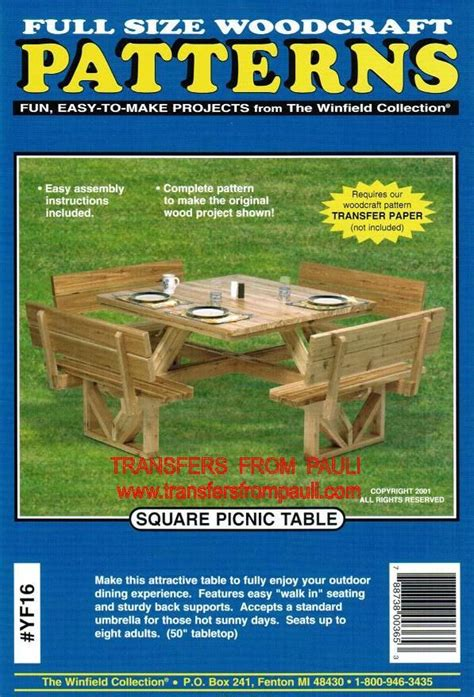 square picnic table plans square picnic table woodcraft woodworking plan garden