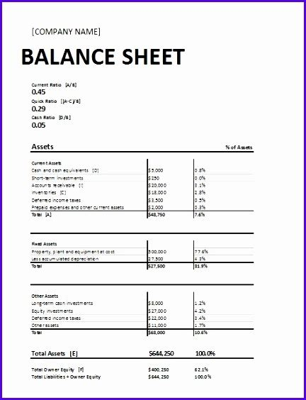 personal balance sheet template free 10 excel balance sheet template free exceltemplates