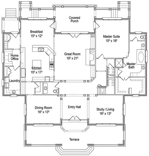 classic country home plan 56144ad 1st floor