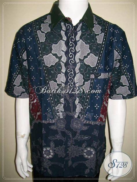 Baju Xl baju batik tulis pria lengan pendek elegan eksklusif modern ld526t xl toko batik 2018