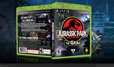 download jurassic park the game ps3 jurassic park the game playstation 3 box art cover by bastart