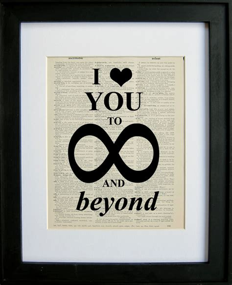 i you to infinity and beyond books i you to infinity and beyond printed on a page from an