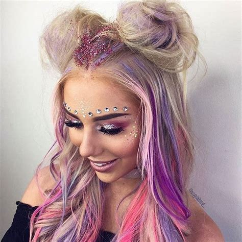hairstyles for rave party 25 best ideas about festival makeup glitter on pinterest