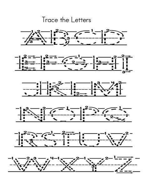 tracing uppercase letters capital letters 3 capital alphabets tracing worksheets printable learning