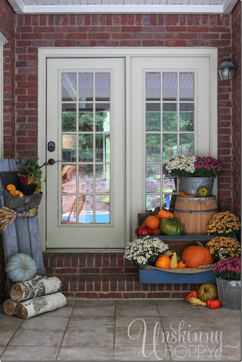 fall porch decorating ideas fall porch decor with plants and pumpkins unskinny boppy