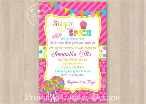 Candyland Baby Shower Invitations by Sugar And Spice Baby Shower Invitation Baby Shower
