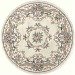 shop rugs america new aubusson ivory indoor tufted