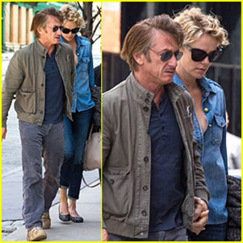 adele exarchopoulos jeremie laheurte split charlize theron sean penn hold hands on romantic stroll