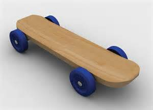 Pinewood Derby Skateboard Template by Downloadable Patterns Templates