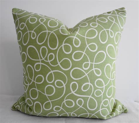 Green Throw Pillow Covers by Green Swirls Decorative Throw Pillow Covers P Kaufmann