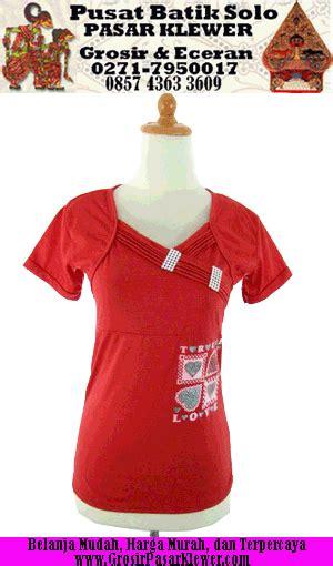 Blouse Atasan Baju Seragam Batik Wanita 1580 Daun Big Size produk pasar klewer toko pakaian pasar klewer grosir