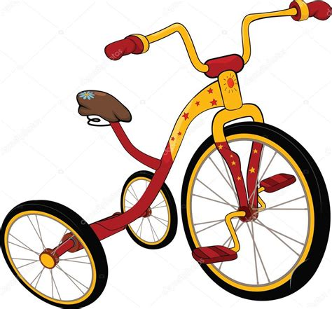 tricycle cartoon children s tricycle cartoon stock vector 169 liusaart