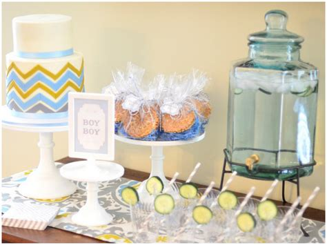 Blue And Green Baby Shower by Chic Blue And Green Baby Shower Pizzazzerie