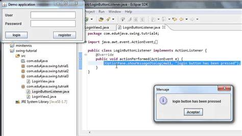 tutorialspoint swing usando listeners video tutorial 4 de java swing en