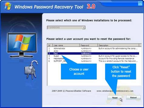 password reset software vista vista administrator password recovery software