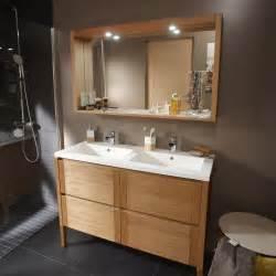 meuble de salle de bains fjord plaquage ch 234 ne naturel 120