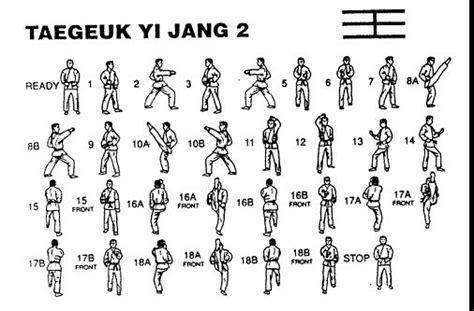 pattern for yellow belt in taekwondo taegeuk 2 jang academic taekwondo taekwondo pinterest