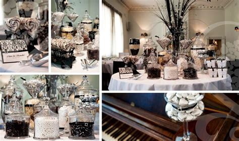 Black And White Candy Buffet Wedding Pinterest Black And White Buffet