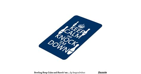 bowling keep calm and knock em down all colors personalized invitation zazzle bowling keep calm and knock em down all colours