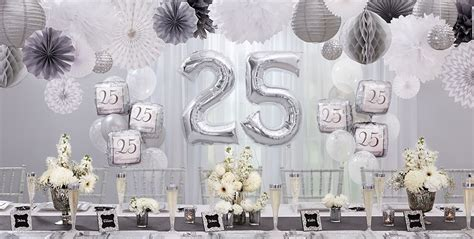 25th Wedding Anniversary Event Ideas by Silver 25th Wedding Anniversary Supplies 25th
