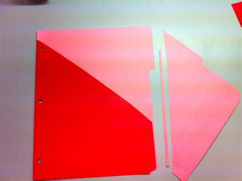 How To Make A Handmade Folder - diy pocket dividers healthy n balanced