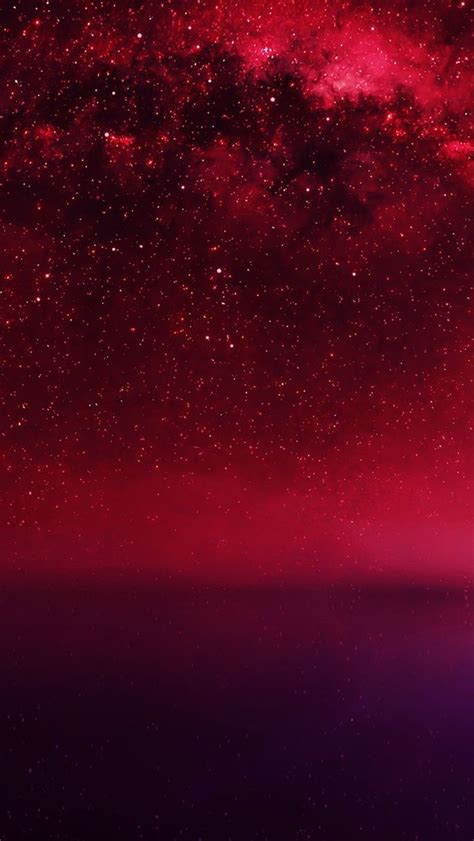 dark red iphone wallpaper cosmos red night live lake starry space iphone 5s