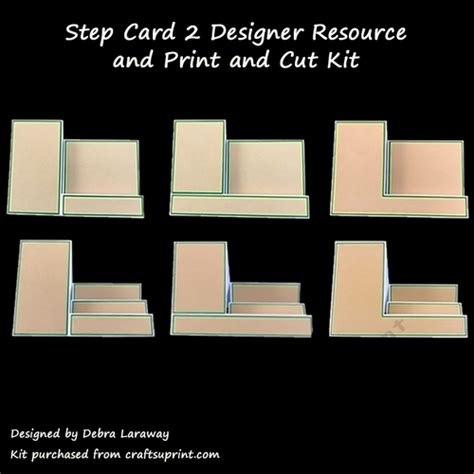 side step card template side step card 2 commercial use template and print and cut