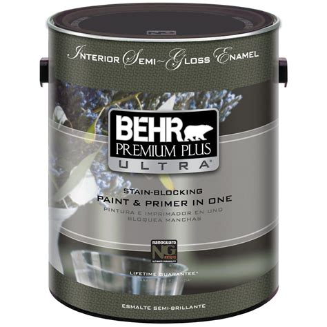 behr paint primer colors behr premium plus ultra 1 gal ultra white semi gloss