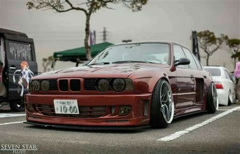 bmw m5 slammed bmw e34 m5 bronze widebody slammed just cars