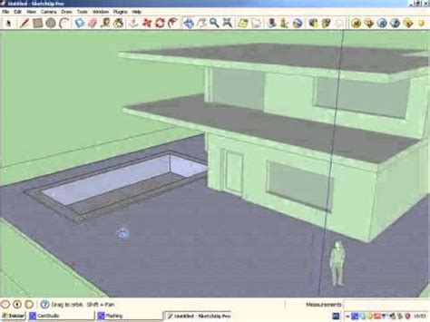 tutorial sketchup house sketchup tutorial 1 simple house modeling youtube