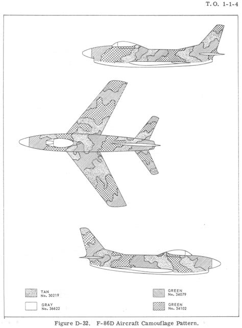 american f 86d sabre southeast asia camouflage color profile and paint guide
