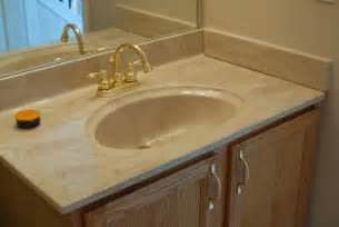 bathroom countertop sink remodelaholic painted bathroom sink and countertop makeover