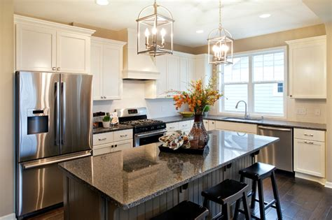 model home kitchens quot belmont quot model home kitchen traditional kitchen